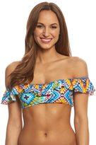 Jessica Simpson Swimwear Surfside Convertible Ruffle Bikini Top 8158665