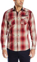 Company 81 Men's David Plaid Shirt with Grey Chambray Accent and Shoulder Piping