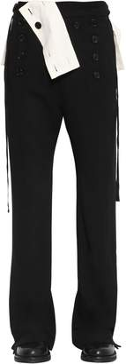 Ann Demeulemeester COOL WOOL PANTS W/ FRONT BUTTONS