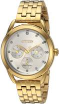 Citizen Women's 'Drive' Quartz Stainless Steel Casual Watch, Color:-Toned (Model: FD2052-58A)