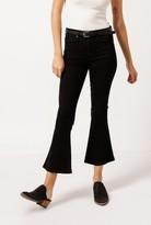 Overdye Crop Flare Jeans