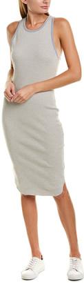 James Perse Satin-Trim Tank Dress
