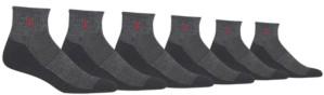 Polo Ralph Lauren Men's Big & Tall 6-Pk. Athletic Quarter Socks