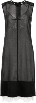 Proenza Schouler Washed Satin Sleeveless Dress