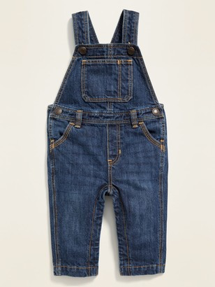 Old Navy Dark-Wash Jean Overalls for Baby