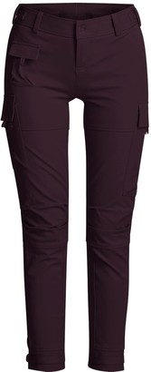 Gisy Cotton Blend Skinny Cargo Pants Leather Brown
