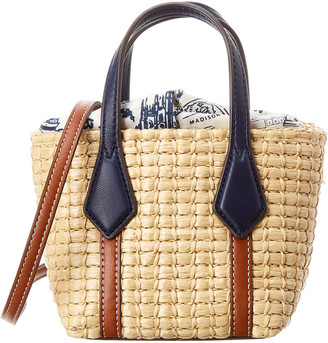 Tory Burch Perry Nano Straw Tote