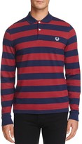 Fred Perry Stripe Long Sleeve Slim Fit Polo Shirt