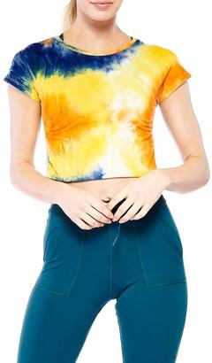 Electric Yoga Tie-Dye Cropped T-Shirt