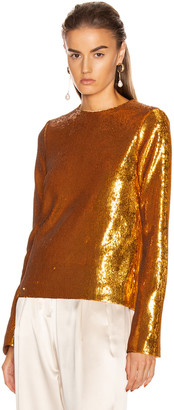 Galvan Gilded Clara Top in Burnished Gold | FWRD