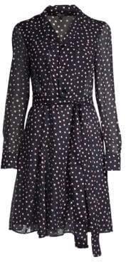 Derek Lam Women's Silk Polka Dot Shirtdress - Navy - Size 46 (10)