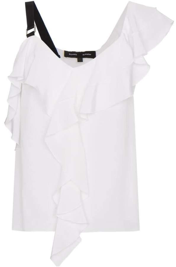 Proenza Schouler asymmetric ruffle blouse