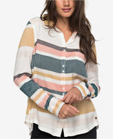 Roxy Juniors' Striped Button-Back Shirt