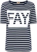 Fay striped logo T-shirt