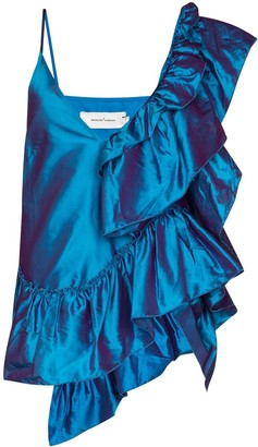 Marques Almeida Ruffled Metallic Camisole