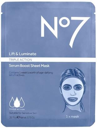 No7 Lift & Luminate Triple Action Serum Mask