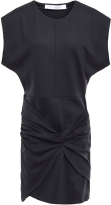 IRO Pearls Twist-front Jersey Mini Dress