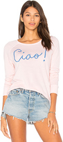 Sundry Ciao Crop Pullover in Pink. - size 2 / M (also in )