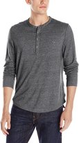True Religion Men's Mock Twist Henley Long Sleeve Shirt