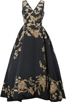 Oscar de la Renta floral embroidered evening dress