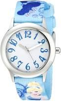 Disney Kids' W000416 Tween Cinderella Stainless Steel Printed Strap Watch