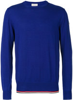 Moncler tri-tone trim jumper - men - Cotton/Virgin Wool - S