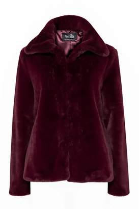 Wallis Berry Faux Fur Short Coat