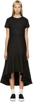 Edit Black Wool Flounce Dress