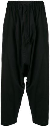 Yohji Yamamoto Drop-Crotch Cropped Trousers