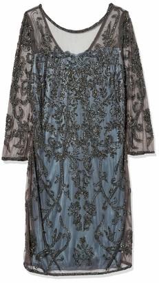 Pisarro Nights Women's Short 3/4TH Sleeve Dress with an Illusion Neck