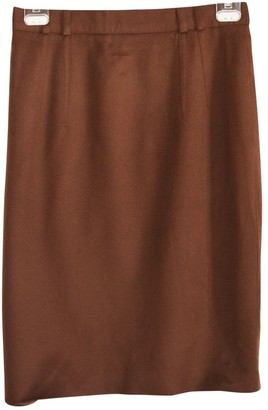 Loro Piana Brown Cashmere Skirt for Women Vintage