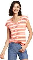 Lands'end Women's Dolman Sleeve Stripe Scoop Neck T-Shirt
