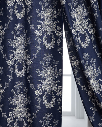 "Sherry Kline Home Two 96""L Country Toile Curtains"