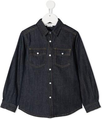 Bonpoint Two-Pocket Denim Shirt