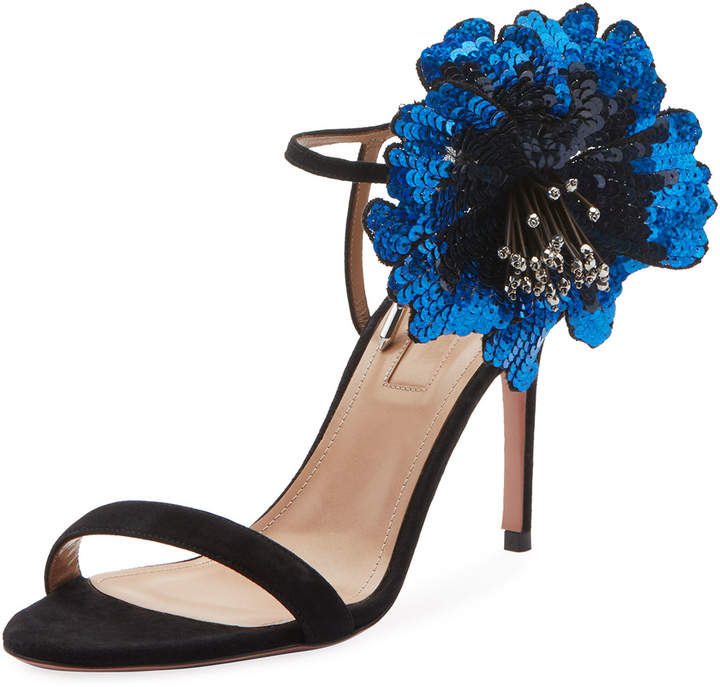 Aquazzura Disco Flower 85mm Sandal