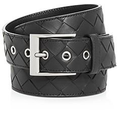 Bottega Veneta Men's Woven Leather Belt