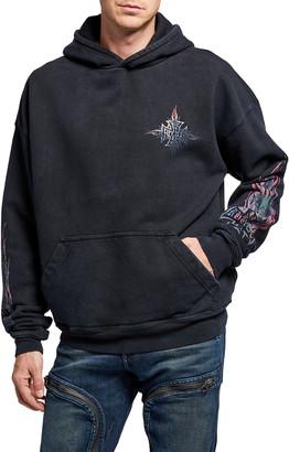 Rhude Men's Neon Flame Pullover Hoodie