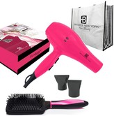 Brilliance New York Bombshell Blowout Duo: 3200PRO Dryer, Anti Frizz Styling Vent Brush & Tote 5-Piece Set - Pink