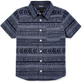 Ocean Current Short-Sleeve Print Chambray Button-Down Shirt - Preschool Boys 4-7