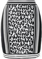 Balmain leopard jacquard skirt - women - Viscose - 38