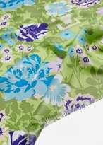 MANGO Flowers printed scarf