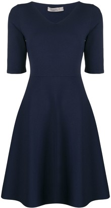D-Exterior Half-Sleeve Flared Dress