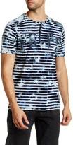 PRPS Warbler Stripe Short Sleeve Henley Tee