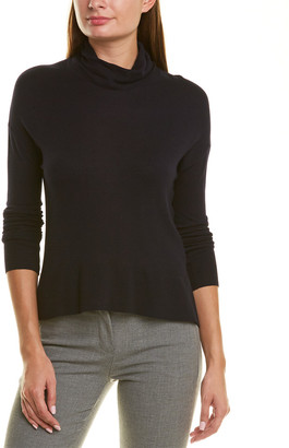 Piazza Sempione Draped Turtleneck Cashmere-Blend Sweater