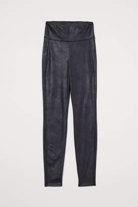 H&M Coated Leggings - Black