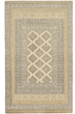 French Connection Lipman Stonewash Printed Cotton Brown/Gray Area Rug Rug Size: Rectangle 4' x 6'