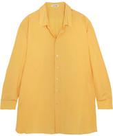 Jil Sander Oversized Silk Crepe De Chine Shirt - Yellow