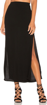 Monrow Long Slit Skirt