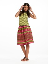 Scotch & Soda Striped Midi Skirt