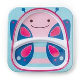 Skip Hop Zoo Divided Plate, Butterfly/Pink